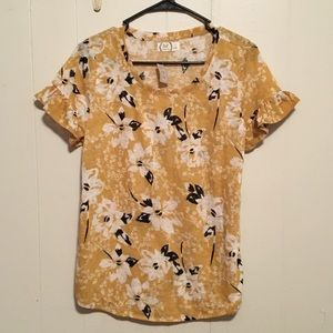 Yellow Maurice's short-sleeve shirt size small